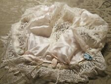 Antique Victorian/Edwardian â—‡ Pink Satin Crochet Bouduoir Dust/Night Cap Bonnet