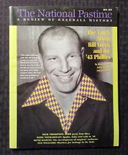1998 THE NATIONAL PASTIME Review of Baseball History #18 VF 8.0 Bill Veeck