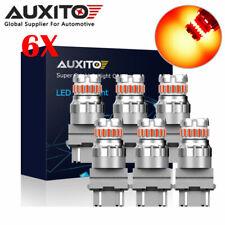 6X AUXITO 3157 Red LED Strobe Flashing Blinking Brake Stop Light Parking Bulb