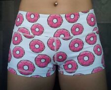 Womens Donut Crossfit Lifting Booty Shorts Size Medium