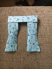 Pretty 1/12 Scale Dolls House Curtains - Blue Cornflower