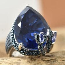 17 Carat Twilight Quartz and Multi Gemstone  Ring in .925 Silver PRICE DROP?