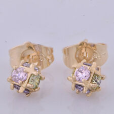 korean Jewelry gold filled statement Magic Ball stud earrings For Women Girl