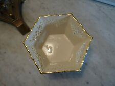 Lenox Shelburne Small Bowl Scalloped Edge Hexagon Hand Decorated w/ 24k Gold