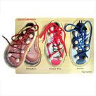 *NEW* WOODEN Shoe Lacing Knob Puzzle - Educational Preschool Theme Wood