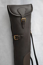 John Shooter Havana Grained Leather Shotgun Slip Case Fleece Lined Shotgun