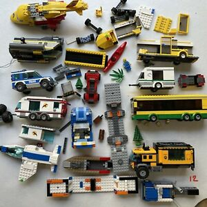 Huge Lot Of Lego City Vehicles And Partial Sets With Minifigures Over 5 LBs Cars
