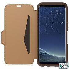 OTTERBOX Strada Leather Folio Case for Samsung Galaxy S8 Plus Burnt Saddle TS