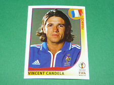 N°33 VINCENT CANDELA FRANCE PANINI FOOTBALL JAPAN KOREA 2002 COUPE MONDE FIFA WC