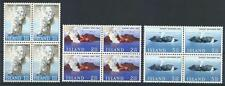 Iceland 1965 Sc# 372-74 set Surtsey volcano Islands blocks 4 MNH