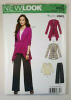 New Look Womens Sweater Top Pants Pattern 6330 Sizes 10-22 Just 4 Knits UNCUT
