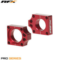 For Honda CR 125 R 2003 RFX Pro Red Rear Wheel Axle Adjuster Blocks