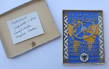 Plakette Badge Autoplakette --ADAC IAA Sternfahrt 1951-- im Etui