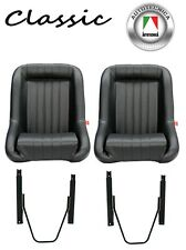 LOW BACK SPORTS RACING SEATS WITH RAILS CLASSIC FORD COBRA ROADSTER HOT ROD CAR