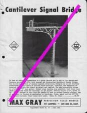 catalogo MAX GRAY Supplement Sheet No 27 June 1961 Cantilever Signal Bridge E aa
