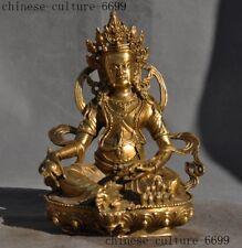 old Tibetan Buddhism brass mouse Yellow Jambhala wealth God Buddha statue