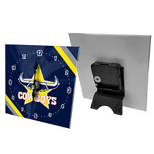 North QLD Queensland Cowboys NRL Mini Analogue Glass Clock Christmas Gift