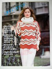 Caron Glencannon Fashions No.536 Pullover Cardigan Men Women Sweater Patterns