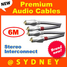 NEW High Quality ISIX Pro HQ 6m RCA Stereo Audio Interconnect Cable