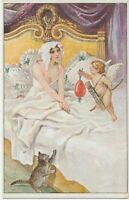 WWI / Ostern Künstler-AK Der Traum vom Osterei als K.u.K.-Feldpostkarte gelaufen