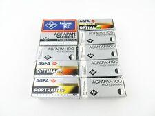 10x 120 Rollfilm Expired Film abgelaufene Filme Agfapan 100 Agfacolor 125 160
