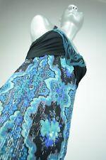 new FREE PEOPLE Black Comb Silk Tunic Sundress Layered Crossback Ruffle sz 6 S M