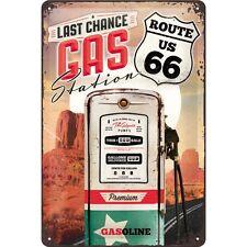Targa in Latta Vintage  Route 66 Gas Station 20 x 30 in metallo