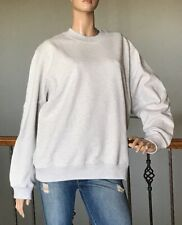 UNIQLO U LEMAIRE WOMEN LIGHT GRAY LONG-SLEEVE SWEAT PULLOVER NWT SIZE L