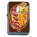 Vintage Poster D243 Windproof Dual Flame Torch Lighter Beer Now Cheaper Than Gas