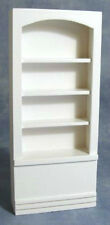 Dolls House White Tall Shelving Unit       12th scale