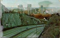 Vtg 1950s Red Mountain Expressway Road, Birmingham Alabama AL Postcard