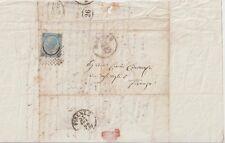 ITALIA 1866 20C FERRO DI CAVALLO ISOLATO SU LETTERA DA MILANO PER FIRENZE