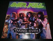 OVERKILL TAKING OVER 1ST PRESS LP SIGNED BY JONNY Z & MARSHA ZAZULA OOP ALBUM