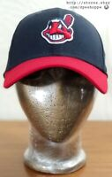 MLB Cleveland Indians New Era 39Thirty Stretch Fitted Hat Cap Blue Red Sz S/M