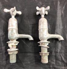 COPPIA Vintage Old Chrome bagno rubinetto bacino recuperati recuperata da cucina LOTTO 2