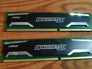 8GB 1600MHz DDR3 Crucial Ballistix Sport Kit (2x4GB) BLS4G3D1609DS1S00  Memory