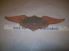 Vintage lot of 2 Inside Window Decal. Harley style Sticker USA MOTORCYCLE RIDER