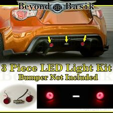 2013-2017 Subaru BRZ Scion FRS 86 3pc LED KIT for REAR BUMPER Body Kit diffuser