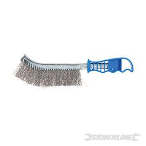 Silverline Wire Brush 250mm 2 x Brass & 2 x Steel