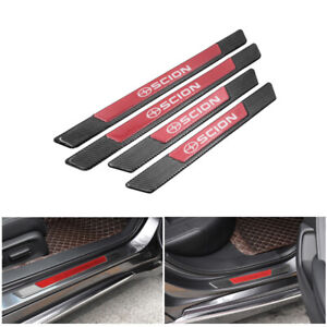 4PCS Carbon Fiber Car Door Scuff Sill Cover Panel Step Protector For Scion