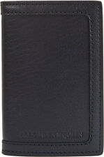 ALEXANDER MCQUEEN BLACK CALFSKIN LEATHER CREDIT CARD WALLET MADE IN ITALY