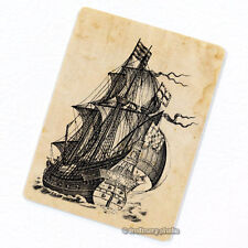 Galleon Sailing Ship Deco Magnet, Decorative Fridge Antique Illustration Decor