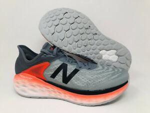 New Balance Men's More V2 Running Shoe, Gunmetal/Neo Flame/Black, 12 D(M) US