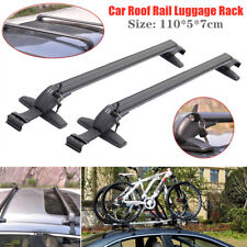 Universal Car Roof Rail Luggage Rack Baggage Carrier Cross Bar w/Anti-theft Lock