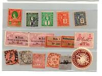 Anciens timbres Allemagne du Nord + fiscaux et divers