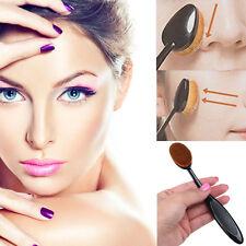 Professional 2pcs Oval Brush Cover Cosmetic Foundation Cream Powder Blush