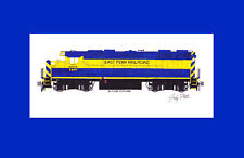 """East Penn Railroad GP38-3 #2801 11""""x17"""" Matted Print Andy Fletcher signed"""
