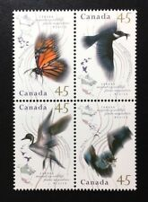 Canada #1563-1567a MNH, Migratory Wildlife Block of Stamps 1995