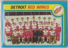 1979-80 Topps Hockey Detroit Red Wings Team Card #249