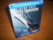 STAR TREK INTO DARKNESS 3D/2D 2-disc UK blu-ray steelbook rare OOP region free